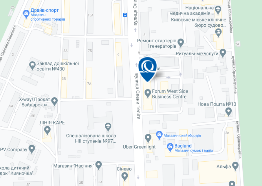 Head office Uniqa.ua - address: 6, letter B, Oleny Telihy street, Kyiv